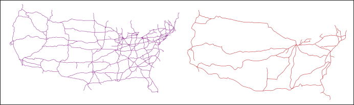 Interstate and Rail ines