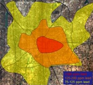Lead Contamination Map of Indianapolis for urban farmers